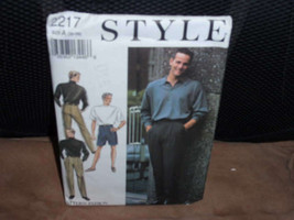 Style 2217 Pattern Men's Casual Pants and Shorts  Size 30-39  New - Uncut - $10.00