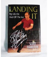 Landing it by scott hamilton figure skating olympics biography book signed - $10.88