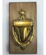 Brass Door Knocker Vintage w original box - $44.10