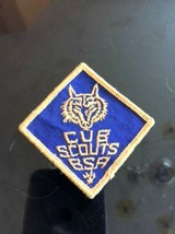 VTG BSA Patch Blue Diamond Cub Scouts Wolf Estate Sale Find Camping Americana - $15.83