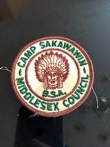 VTG BSA Patch Camp Sakawawin Middlesex Counci Estate Sale Find Camping Americana - $15.83
