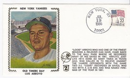 LUIS ARROYO OLD TIMERS DAY NEW YORK YANKEES STADIUM STA. BRONX NY 7/19/8... - $2.98