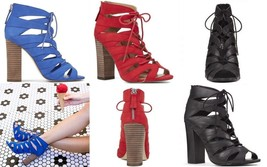 Nine West TRENDSETR Peep Toe Booties Boot Women's High Heel Shoes Blue R... - €35,16 EUR
