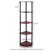 Wall Shelve Furinno 99811DCBK TurnNTube 5 Tier ... - $31.94