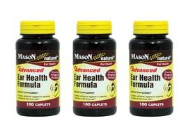 Pack of 3 ) ADVANCE EAR Health Formula Bioflavonoids Plus 100 Caplets pe... - $30.82