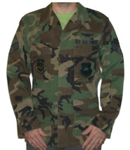 US Air Force Camouflage Coat Type 1 - Master Of Space - Command - Senior... - $14.24