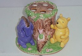 Disney Winnie Pooh Eeyore Piglet Toothbrush Holder Hand Painted Kids Bat... - $59.95