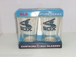 2 Chicago White Sox Cooperstown Beer Drinking Glass MLB Baseball NIB Gre... - $49.95