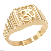 10K Solid Gold Om Ring mens sizes 6-14 - $259.99