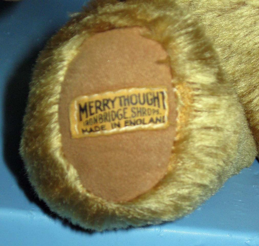"""Teddy Bear - (c.1980) Merrythought - made in England - 16"""""""