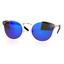 Womens Round Keyhole Sunglasses Metal Frame Color Mirror Lens UV 400 - $9.95