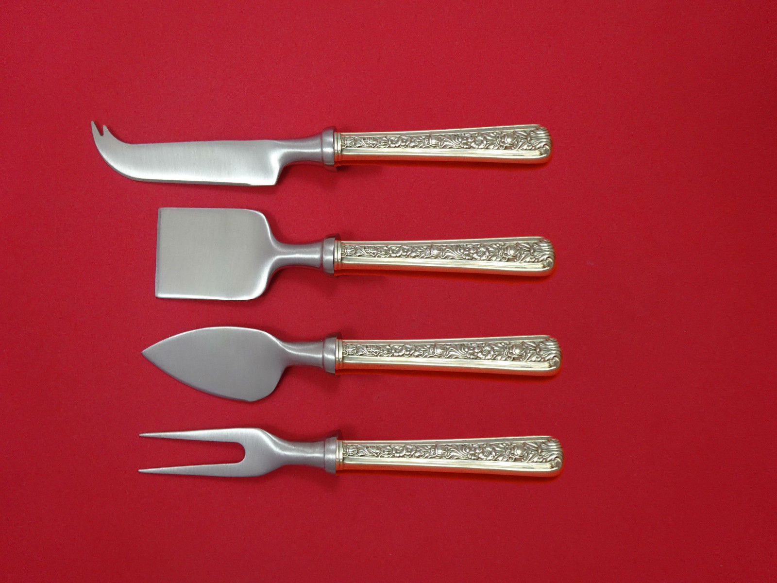 Windsor Rose by Watson Sterling Silver Cheese Serving Set 4 Piece HHWS  Custom - $245.65