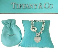 *Please Return To Tiffany & Co. Sterling Silver RTT Heart Tag Toggle Bra... - $235.00