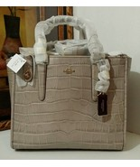 NWT COACH Embossed Croc Crosby Carryall 33529 L... - $371.07