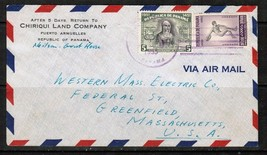 PANAMA 1953 COMMERCIAL ADVERTISING AIRMAIL COVER to MASS.,USA   (OS-275)  - $3.91