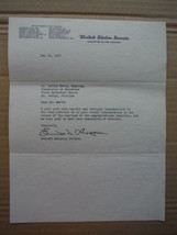 Senator Everett M. Dirksen autographed letter (1954) - $45.00