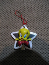 "1996 Warner Bros Kurt Adler Tweety Christmas Ornament Star Santa Hat Resin 3"" - $14.95"