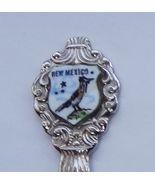 Collector Souvenir Spoon USA New Mexico Roadrunner Porcelain Emblem - $9.99