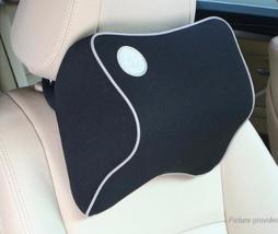 Car Memory Foam Headrest Neck Pillow Lumbar Pillow (Black) - $19.57