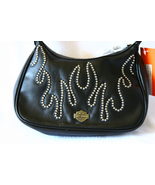 Harley-Davidson Black Leather Handbag Studded F... - $89.99