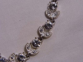 Vintage NAPIER crystal flower floral design choker NECKLACE costume jewelry - $29.99