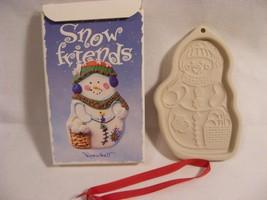 "1999 Longaberger Pottery Snowfriends Cookie Mold  ""Snowball"" Snowman Ornament - $7.99"