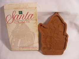 1992 Longaberger Pottery Christmas Chocolates Cookie Mold Ornament Santa Claus - $7.99