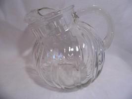 vintage Depression Glass clear swirl optic Bulb... - $15.99