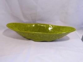 vintage collectible green swirl glaze art CALIF... - $14.99