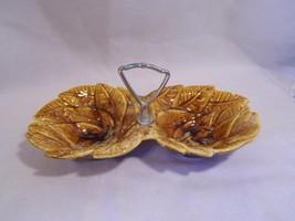 vintage collectible brown glaze Leaf art CALIFO... - $11.99