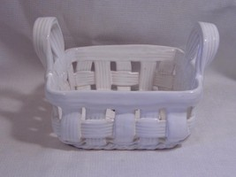 white NUEWIRTH Portugal Art Pottery limited edition Weaved BASKET - $9.99