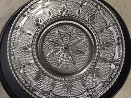 Vintage Federal Glass Heritage Pattern Round Serving Platter Plate 1940 1955 - $22.99
