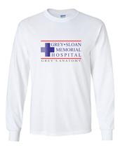 Grey Sloan Memorial Hospital Longsleeve Men WHITE - $21.00