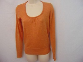 The Limited Orange Scoop Neck Long Sleeve Wool Blend Sweater Women's Xsmall - $12.19
