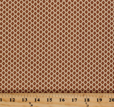 Jo Morton Isabella Diamonds Dots Brown Civil War Cotton Fabric Print BTY... - $219,69 MXN