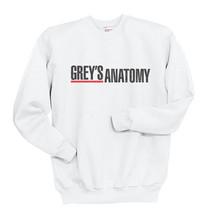Grey's Anatomy Crewneck Sweatshirt WHITE - $30.00+