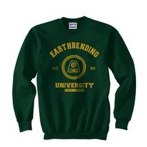 Earthbending University Yellow Earth Kingdom Avatar Crewneck Sweatshirt F. Green - $30.00+