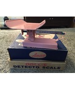 Vintage 1950's Pink Doll-E Detecto Scale By AMSCO In Original Box, RARE!, Toy - $125.00