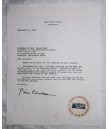 1997 President Bill Clinton, Signed Letter on White House Stationery - $2,500.00