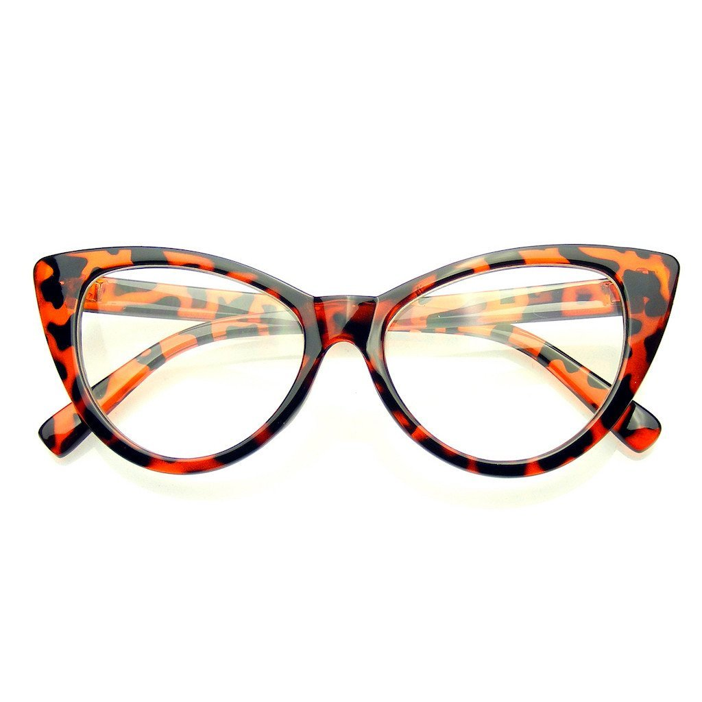 cat eye glasses vintage inspired fashion mod clear