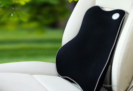 Memory Foam Car Lumbar Back Support Cushion Pillow (Black) - $25.93