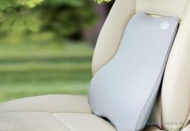 Memory Foam Car Lumbar Back Support Cushion Pillow (Grey) - $25.93