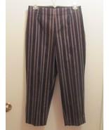Ladies White Stag Capri's Fantastic-Black Brown Stripped-Size 8-Zipper h... - $5.34