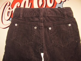 GIRLS CORDUROY BROWN SZ 4 CHEROKEE PANT/JEAN-ADJUSTABLE WAIST-BELT LOOPS... - $7.99