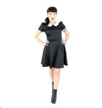 Black Peter Pan Collared Dress / Wednesday Adams Dress Plus Size - $59.95