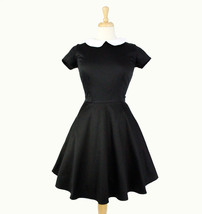 Classic Wednesday Addams  Black Skater  Dress - $59.95