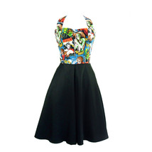 Plus Size Pinup Full Circle Classic Horror Monsters Dress - $59.95