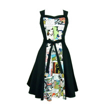 Comic  Full Circle Swing  Vintage Inspired Dress Light White - $69.95