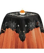 Halloween Spiderweb Tablecloth Spider Web Table... - $33.97