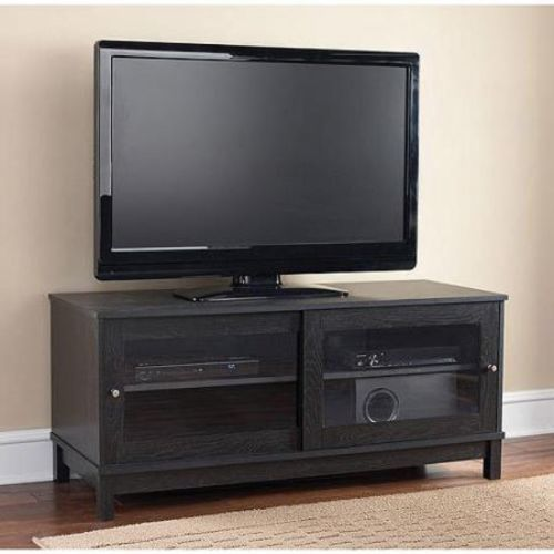 Flat screen tv stand wood 55 inch television entertainment for 100 inch media console